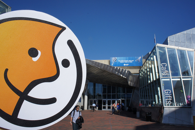 Entrance of the New England Aquarium