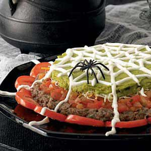 Spooky 7-Layer Dip