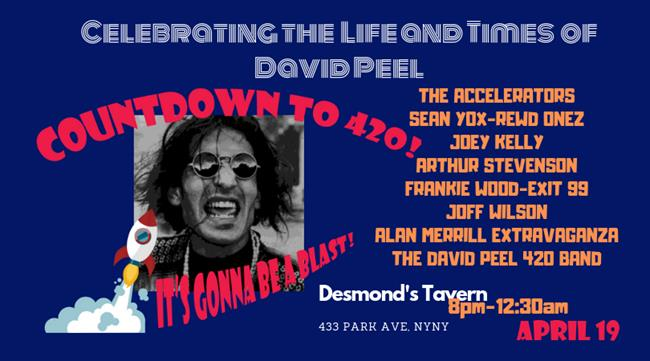 David Peel Tribute 420's Eve Countdown - It's Gonna be a BLAST!