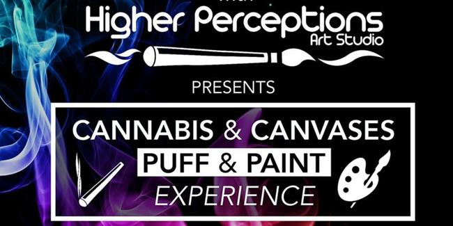 Cannabis and Canvases Puff-n-Paint Experience - 9/28