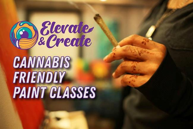 Elevate & Create: Canna-Friendly Paint Class - 10/17