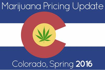 Marijuana Prices in Denver and Colorado: Spring 2016 Update