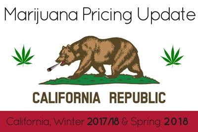 Marijuana Prices in Los Angeles and California: Winter '17/'18 and Spring 2018 Update