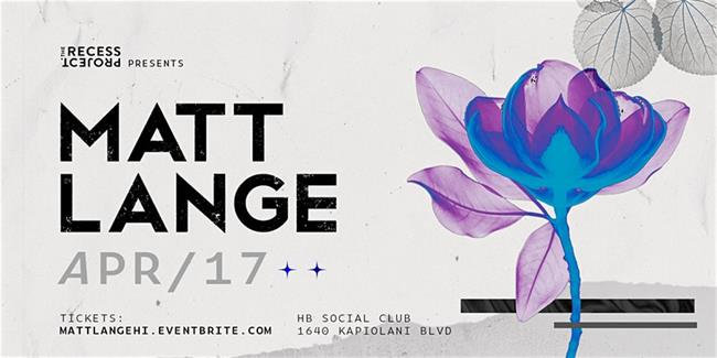 The Recess Project Presents Matt Lange