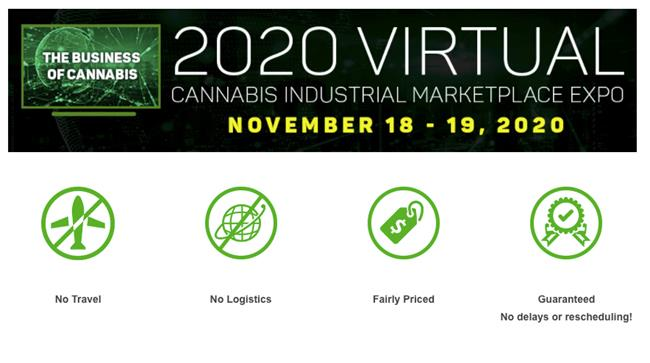 2020 Virtual Cannabis Industrial Marketplace Summit & Expo.