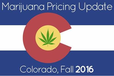 Marijuana Prices in Denver and Colorado: Fall 2016 Update